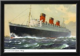View of Cunard Ocean Liner Queen Mary Prints