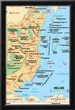 Michelin Official Belize Map Art Print Poster Print