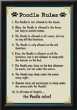 Poodle House Rules Print