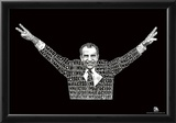 Nixon I'm Not a Crook Text Poster Posters