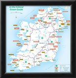 Michelin Official Regions of Ireland Green Guide Map Art Print Poster Prints