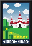 Mushroom Kingdom Retro Travel Poster Photo