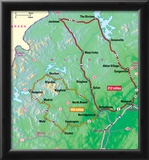 Michelin Official Central Maine Driving Tour Map Art Print Poster Poster