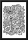 Black and White Floral Design I Prints by Sara Gayoso