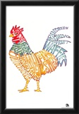Rooster Breakfast 2 Text Poster Photo