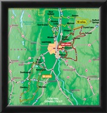 Michelin Official Central Connecticut Driving Tour Map Art Print Poster Posters