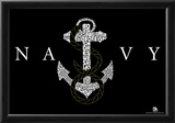 Navy Logo Anchors Aweigh Lyrics Poster Photo