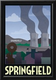 Springfield Retro Travel Poster Posters