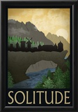 Solitude Retro Travel Poster Prints