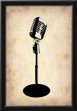 Vintage Microphone Print