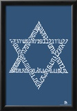 Star of David Text Poster Posters