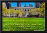 Walt Whitman Quote Bryant Park Posters