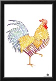 Rooster Breakfast Text Poster Posters