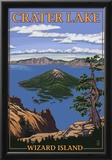 Crater Lake, Oregon - Wizard Island View, c.2009 Poster