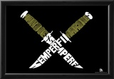 Marines Knives Sempi Fi Text Poster Posters