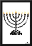 Menorah Text Poster Prints