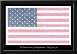 American Flag Declaration of Independence Text Poster Posters