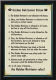 Golden Retreiver House Rules Posters