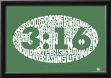 John 3:16 Text Poster Prints