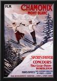 Chamonix Mont-Blanc, France - Skiing Promotional Poster Prints
