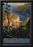 La Riviera Italienne: From Rapallo to Portofino Travel Poster - Portofino, Italy Print