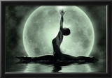 Moonlight Yoga Meditation Posters