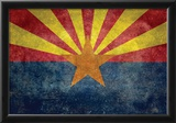 Arizona State Flag - With Distressed Treatment Poster
