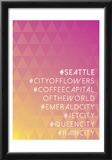 Hashtag City Seattle Prints