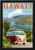 VW Van - Hawaii Volcanoes National Park Posters