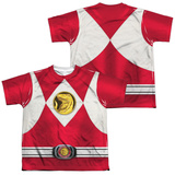 Youth: Power Rangers - Red Ranger Emblem (Front/Back Print) Shirt