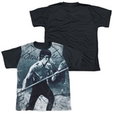 Youth: Bruce Lee - Whoooaa(black back) T-Shirt