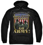 Hoodie: Army - Go Army Pullover Hoodie