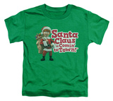Toddler: Santa Claus Is Comin To Town - Santa Logo Shirts