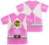 Power Rangers - Pink Ranger Emblem (Front/Back Print) Shirts
