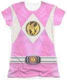 Juniors: Power Rangers - Pink Ranger Emblem Shirts