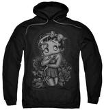 Hoodie: Betty Boop - Fashion Roses Pullover Hoodie