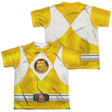 Youth: Power Rangers - Yellow Ranger Emblem (Front/Back Print) T-Shirt