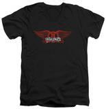 Aerosmith - Winged Logo V-Neck T-Shirt