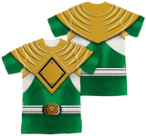 Power Rangers - Green Ranger (Front/Back Print) T-shirts