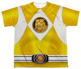 Youth: Power Rangers - Yellow Ranger Emblem Shirts