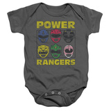 Infant: Power Rangers - Ranger Heads Infant Onesie