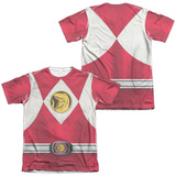 Power Rangers - Red Ranger Emblem (Front/Back Print) T-shirts