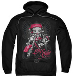 Hoodie: Betty Boop - Biker Babe Vêtements