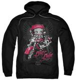 Hoodie: Betty Boop - Biker Babe Pullover Hoodie