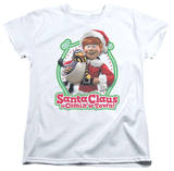 Womans: Santa Claus Is Comin To Town - Penguin T-Shirt