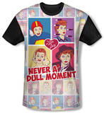 Youth: I Love Lucy - All Over Panels(black back) T-Shirt