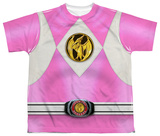 Youth: Power Rangers - Pink Ranger Emblem Shirts
