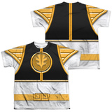 Youth: Power Rangers - White Ranger(Front/Back Print) Vêtements