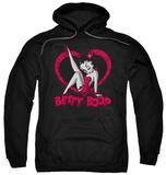 Hoodie: Betty Boop - Scrolling Hearts Pullover Hoodie