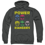 Hoodie: Power Rangers - Ranger Heads Pullover Hoodie